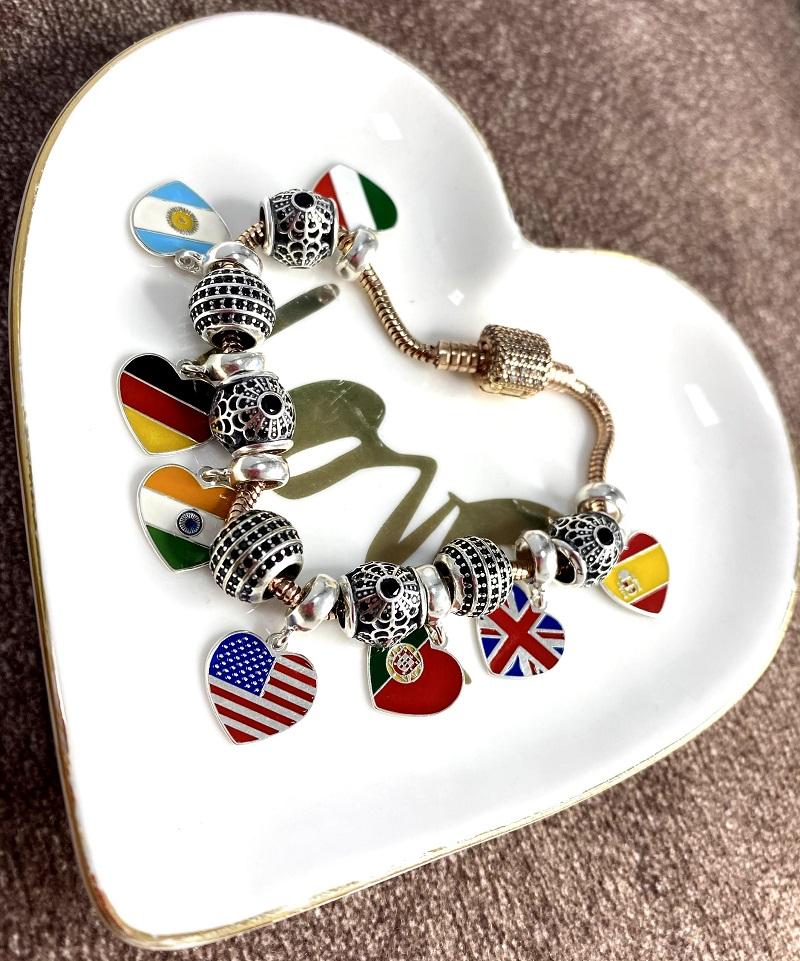 Berloque Coração Itália