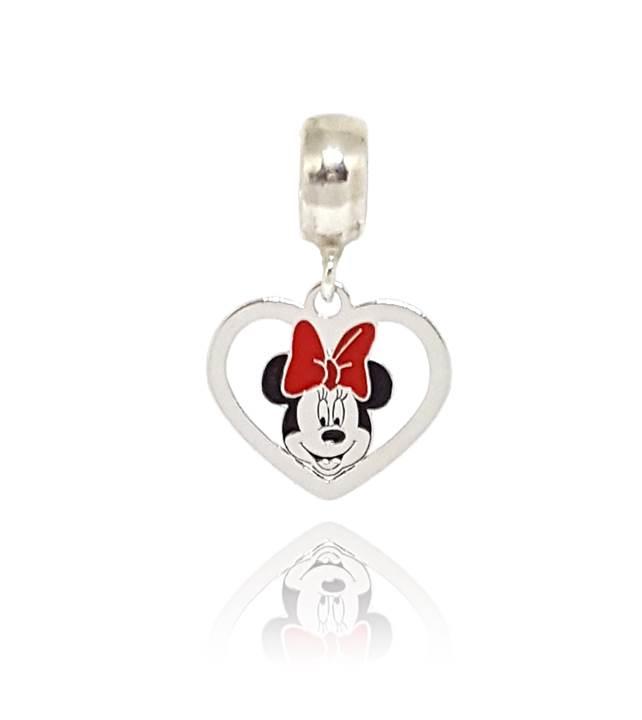 Berloque Coração Minnie