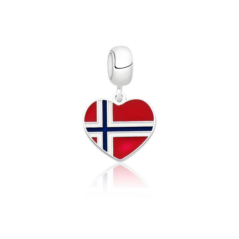 Berloque Coração Noruega