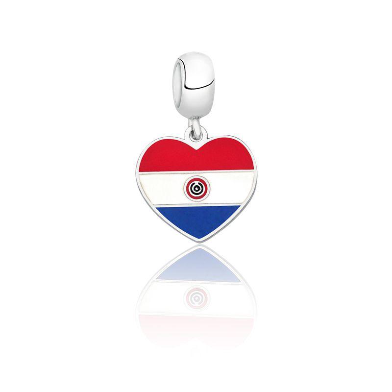 Berloque Coração Paraguai