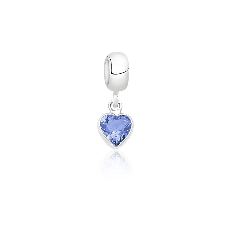 Berloque Coração Pedra Tanzanita