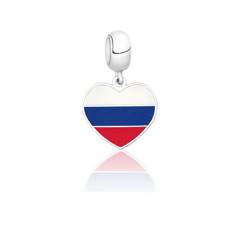 Berloque Coração Russia