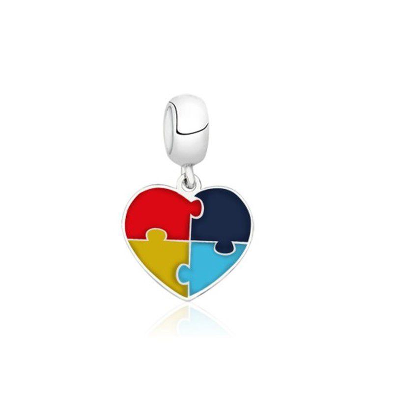 Berloque Coração Símbolo Autismo
