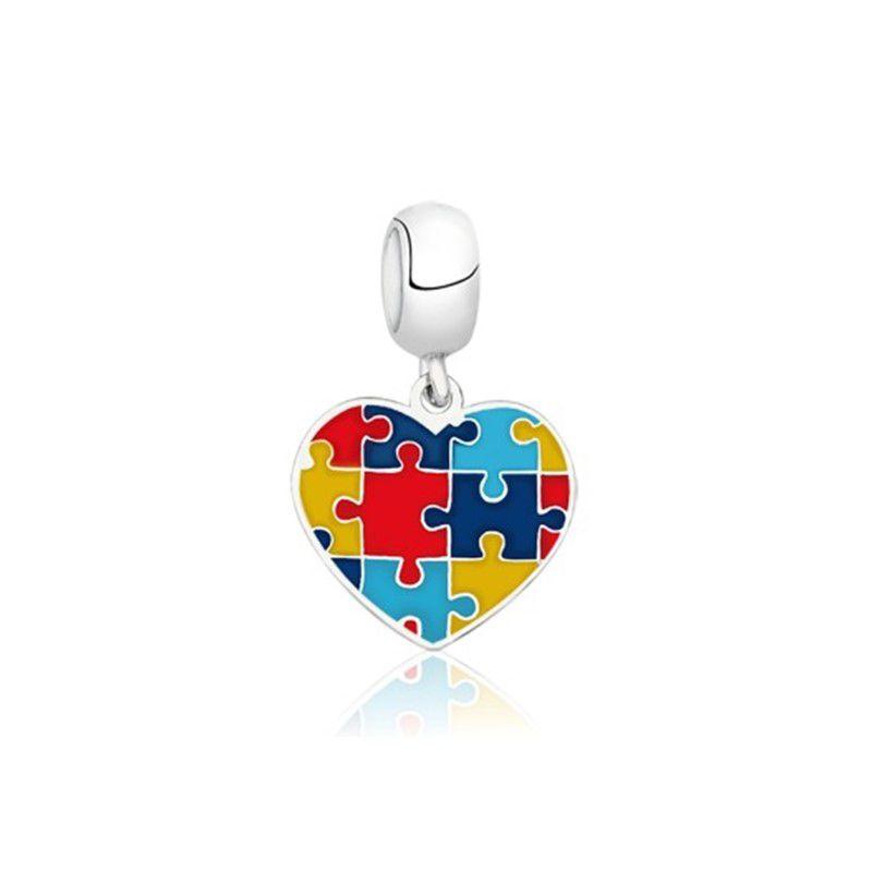 Berloque Coração Símbolo Autismo II