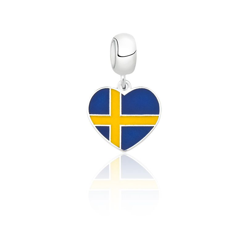 Berloque Coração Suécia