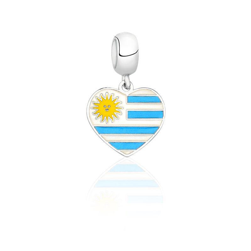 Berloque Coração Uruguai
