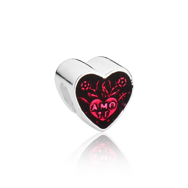 Berloque Coração Vermelho Te Amo