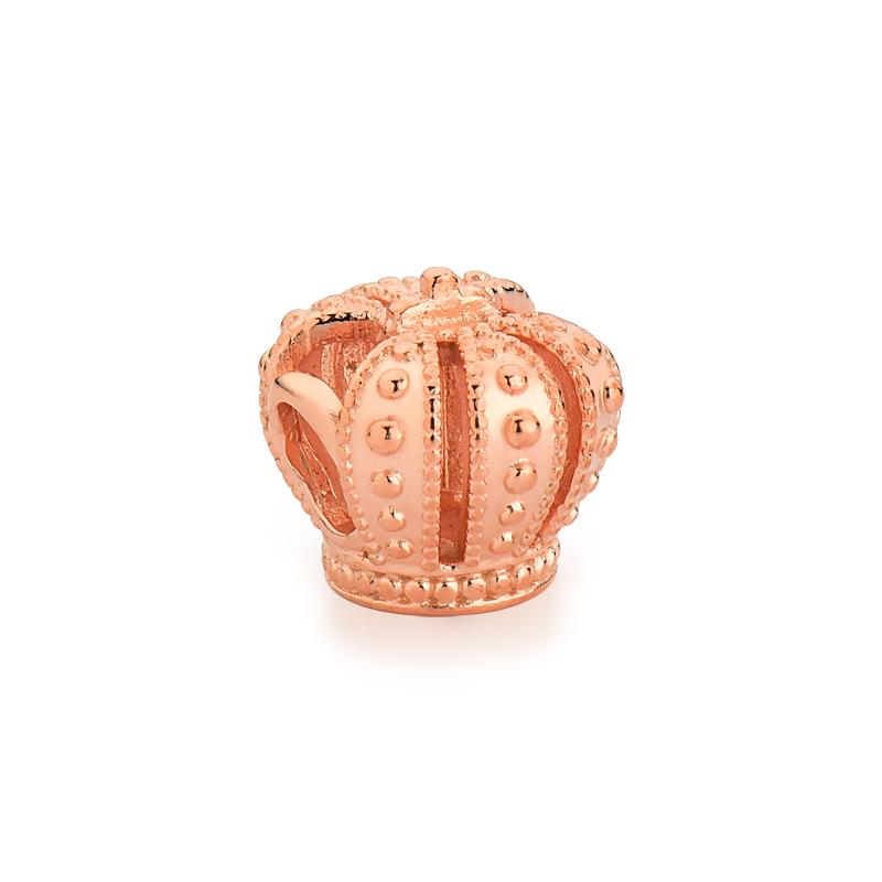 Berloque Coroa Realeza - Ouro Rose
