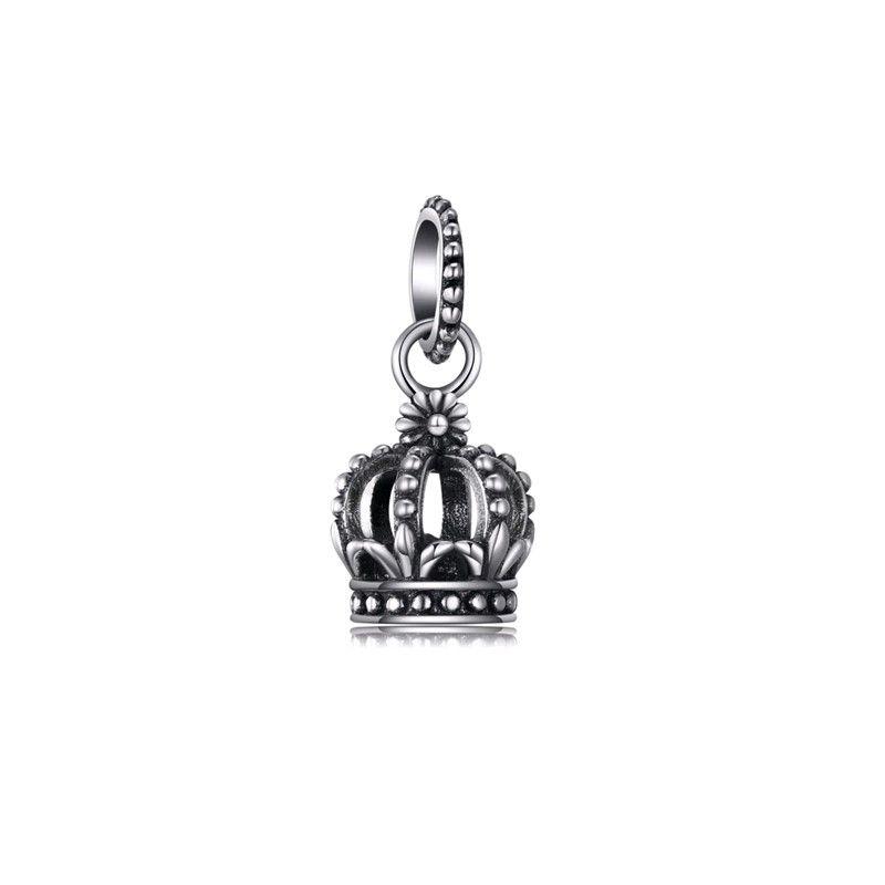 Berloque Coroa Realeza Prata Italiana