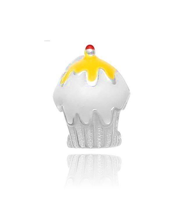 Berloque Cupcake Amarelo