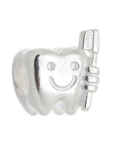 Berloque Dente com Escova - Odontologia