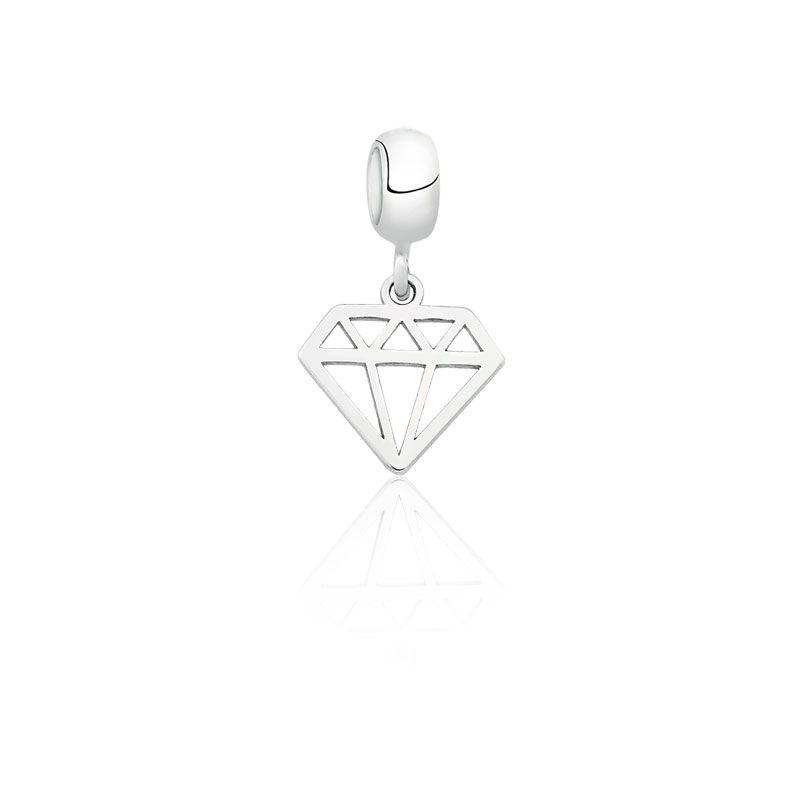 Berloque Diamante Vazado