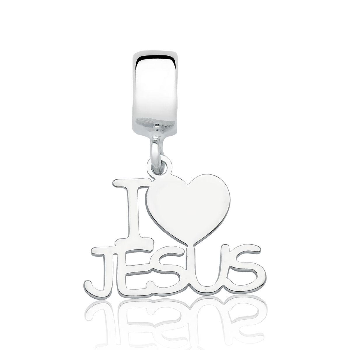 Berloque Eu Amo Jesus
