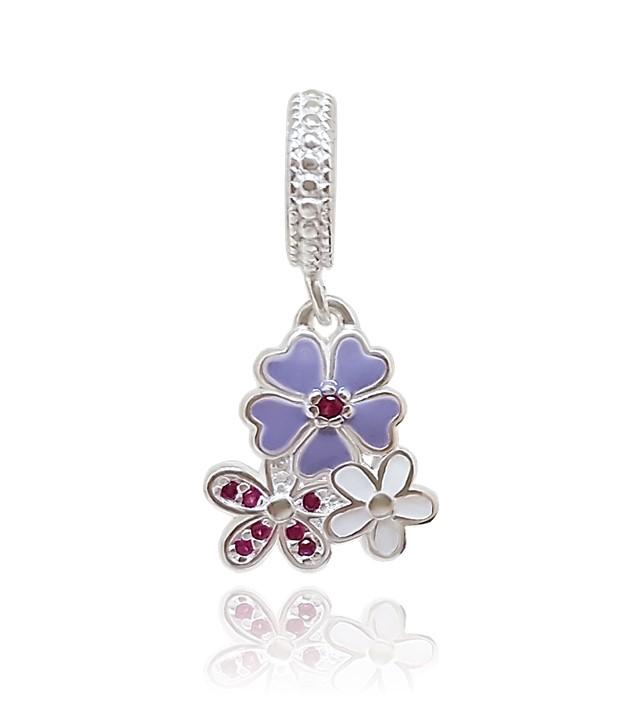 Berloque Floral Lilás Primavera