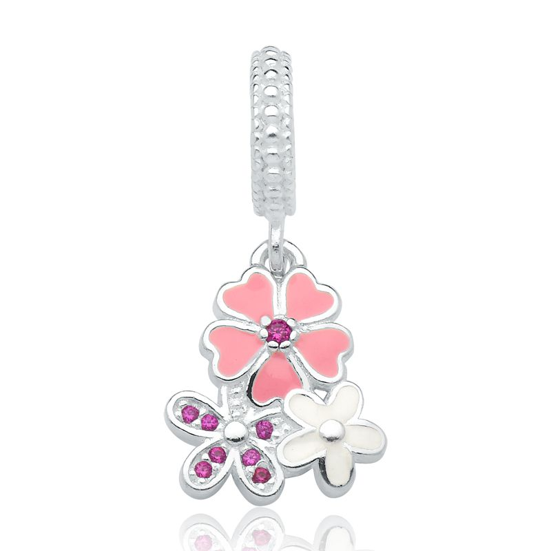 Berloque Floral Rosa Primavera