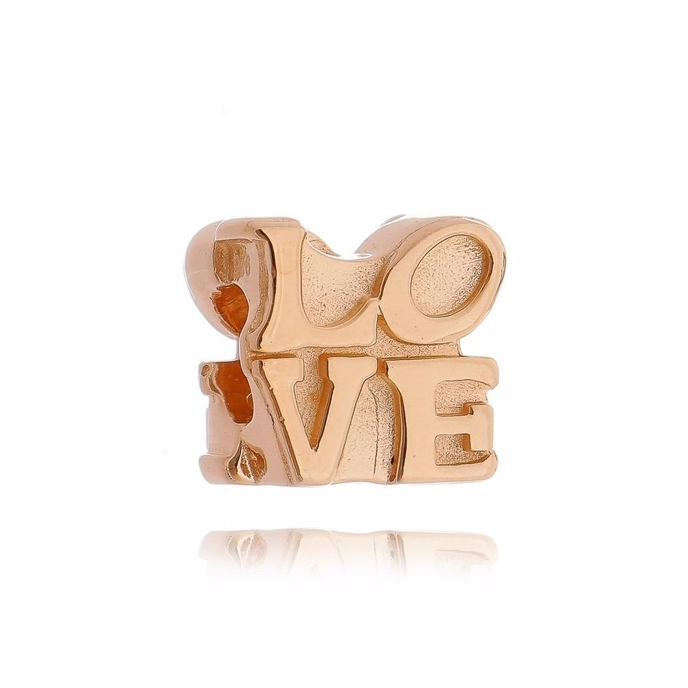 Berloque Love Dourado
