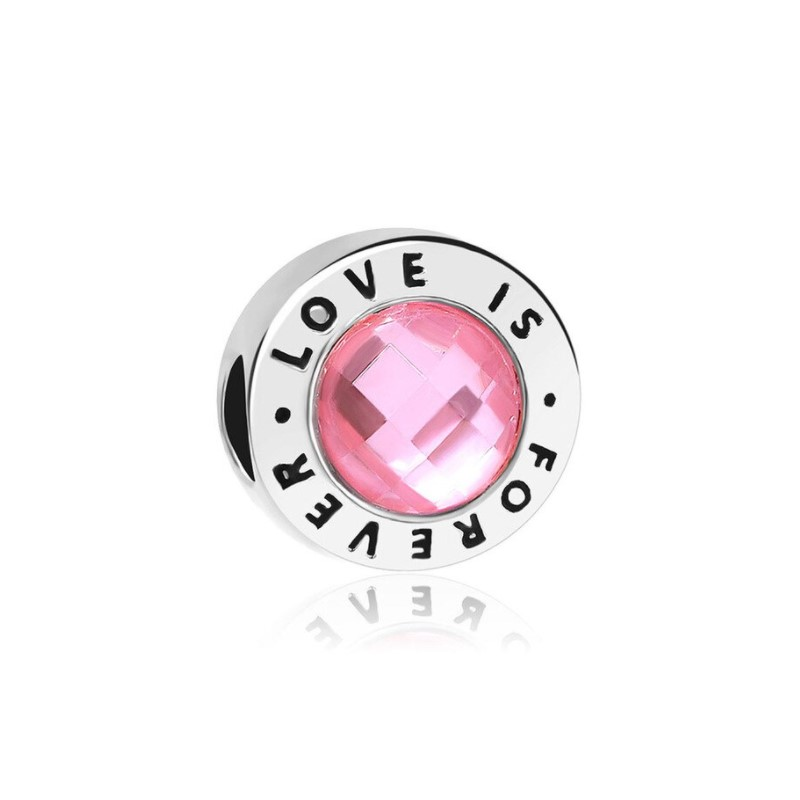 Berloque Love is Forever - Prata Italiana