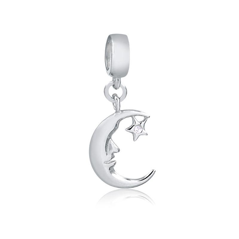 Berloque Lua Estrela Zircônia II