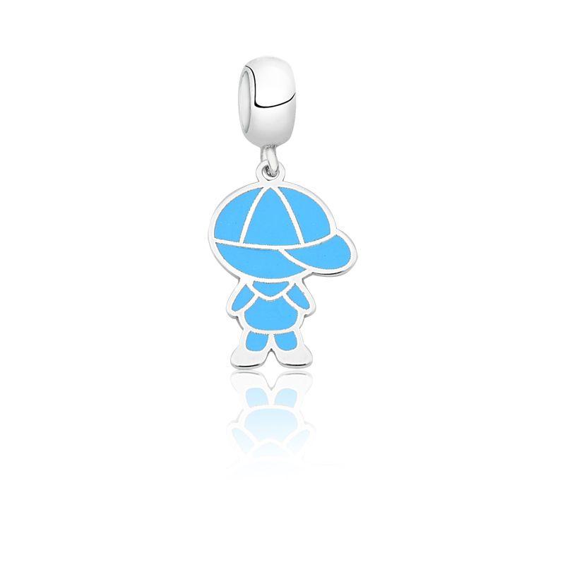Berloque Menino Esmaltado Azul