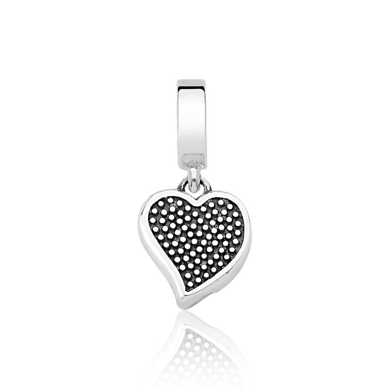 Berloque Mini Coração Zircônias