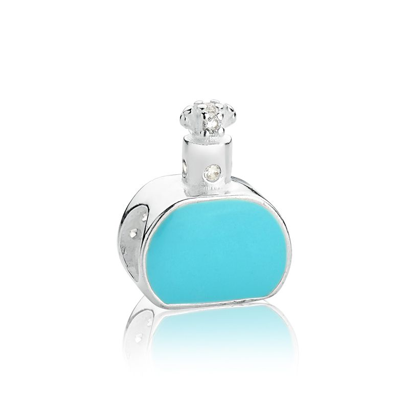 Berloque Perfume Pavê Azul Turquesa