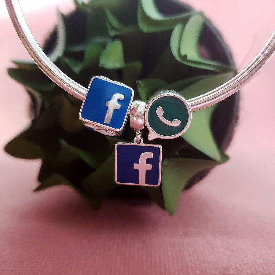 Berloque Pingente Rede Social FB