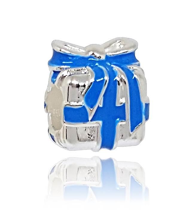 Berloque Presente Laço Azul