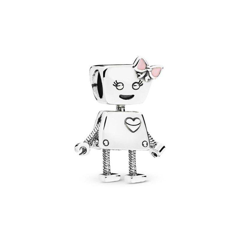Berloque Robô Bela - Prata Italiana