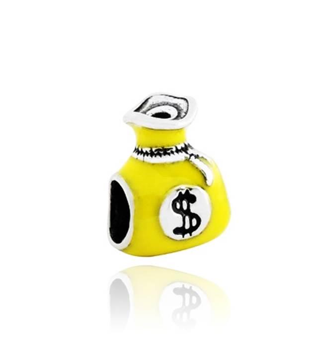 Berloque Saquinho de Dinheiro Esmaltado