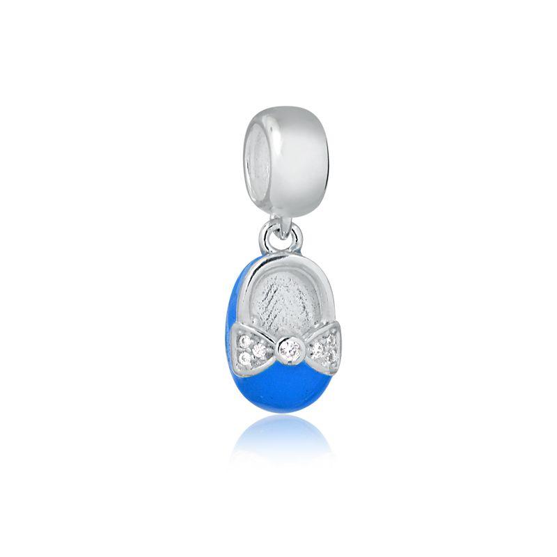 Berloque Sapatinho de Bebê - Azul