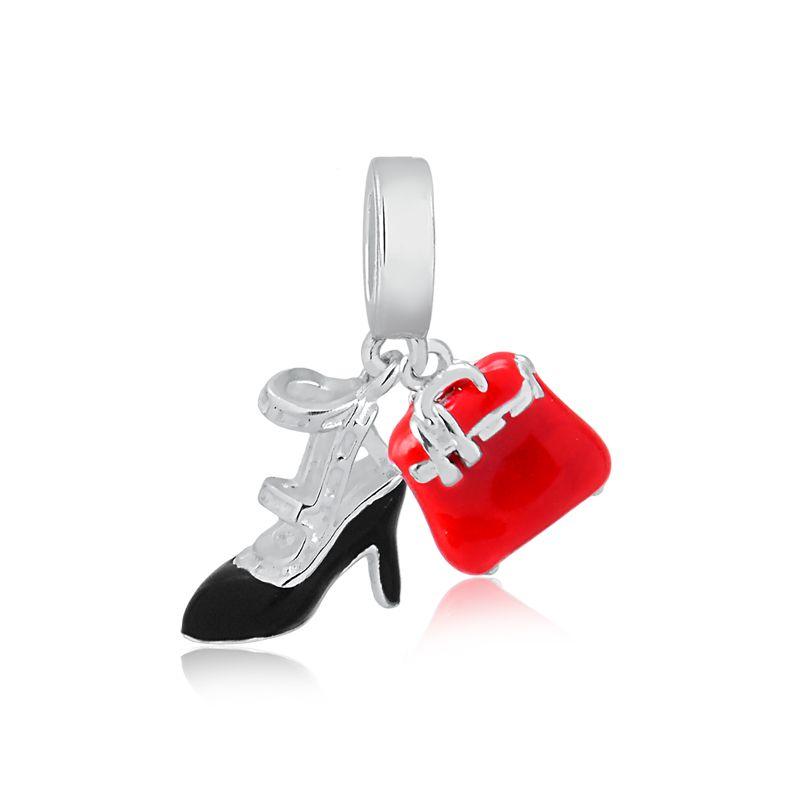 Berloque Sapato Tiras Bolsa Vermelha