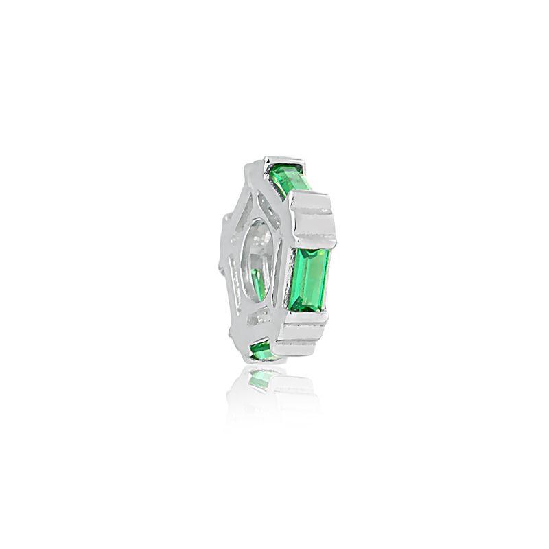 Berloque Separador Cristal Verde