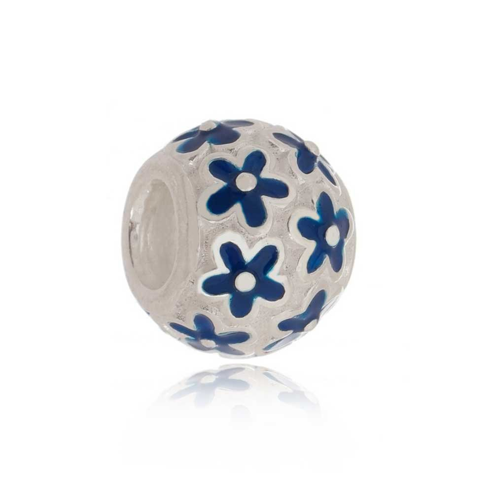 Berloque Separador Floral - Azul