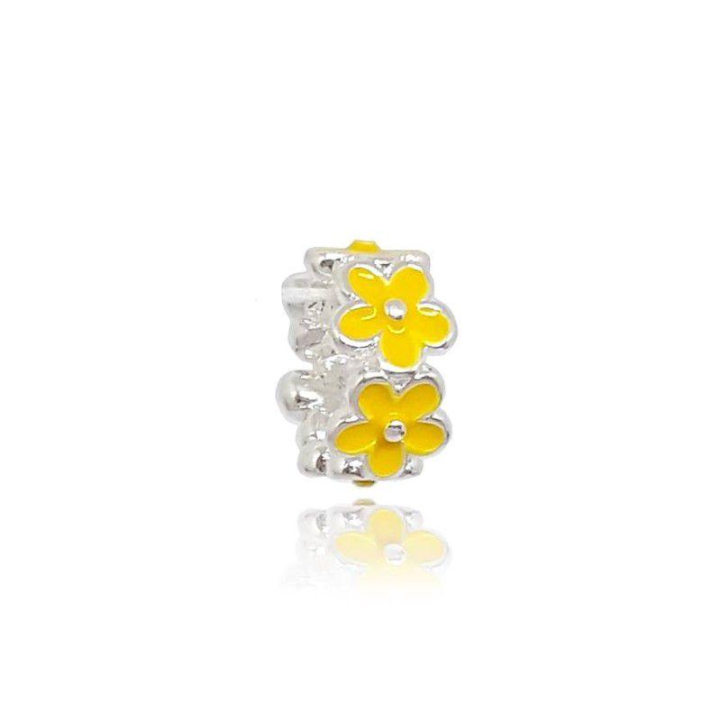 Berloque Separador Flores - Amarela