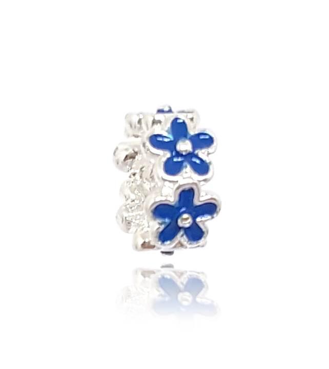 Berloque Separador Flores - Azul