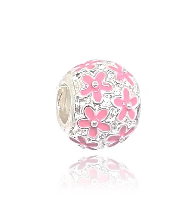 Berloque Separador Floral - Rosa