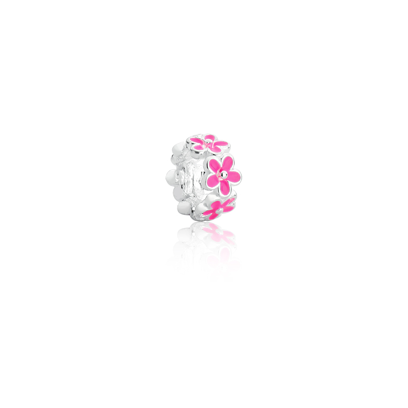 Berloque Separador Flores - Rosa Pink