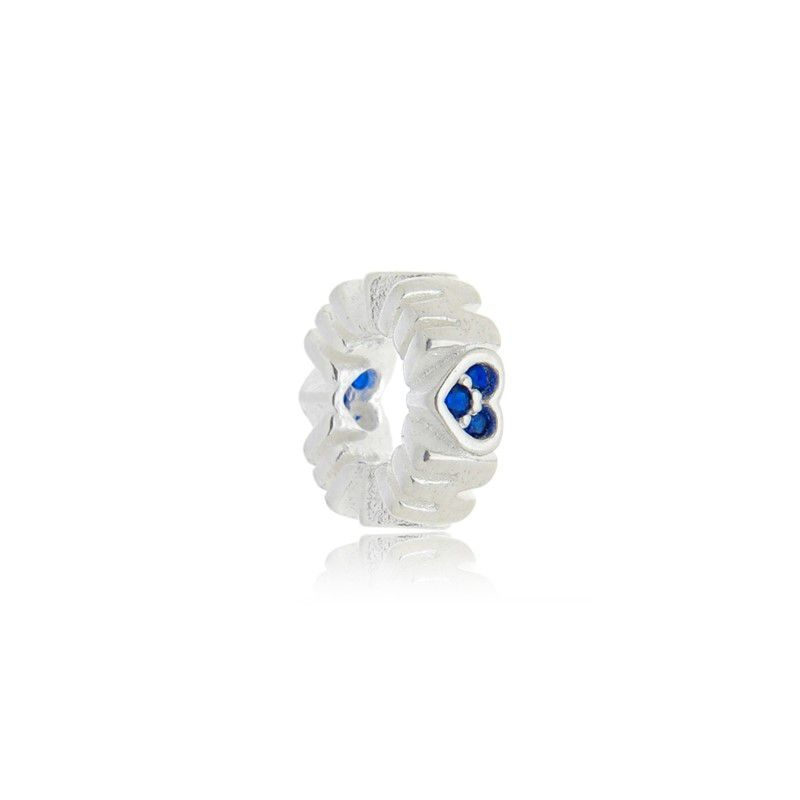 Berloque Separador Mãe Zircônia Azul