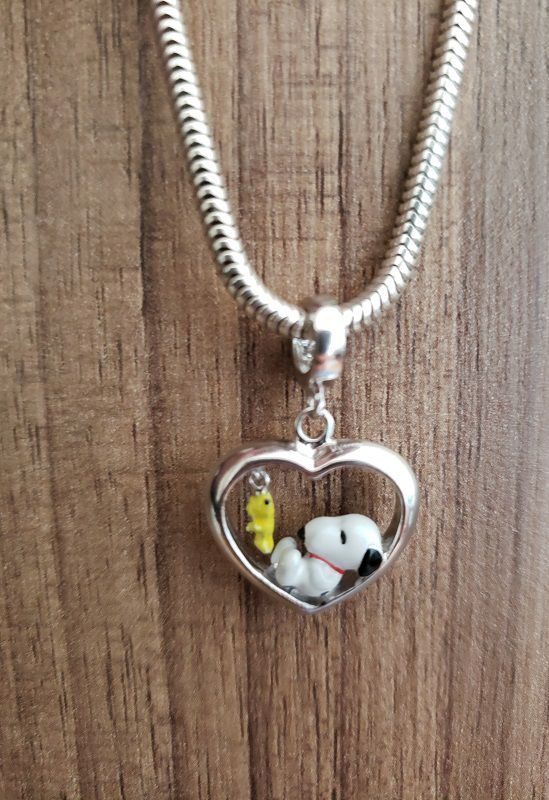 Berloque Snoopy com Woodstock