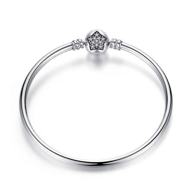 Bracelete Rígido Estrela Zircônias Cristal