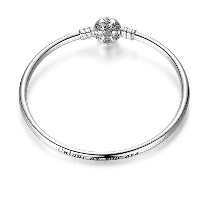 Bracelete Rígido Floco de Neve Zircônias