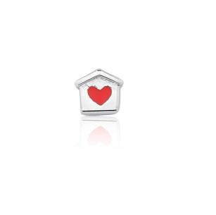 Mini Charm Casinha Coração Esmaltada