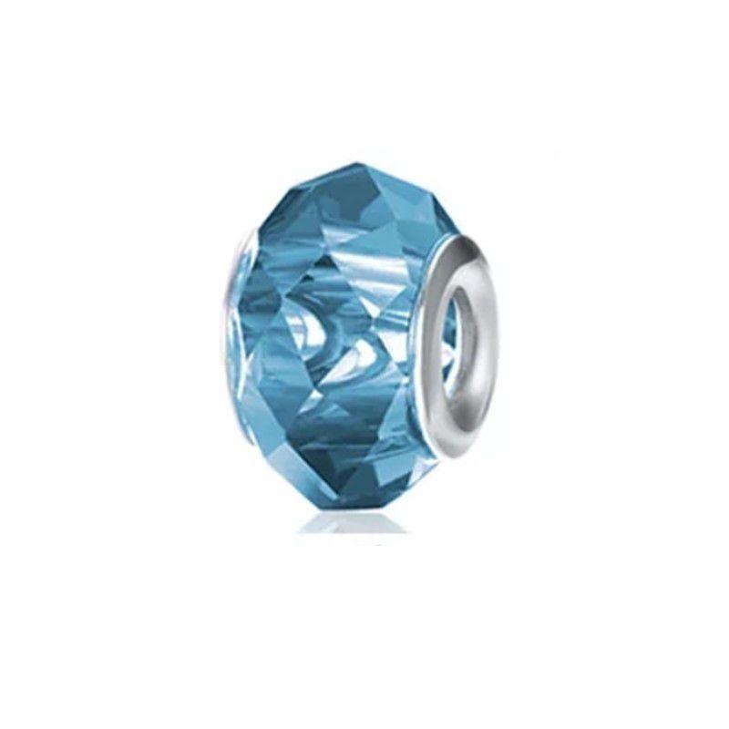 Murano Facetado Azul Cristal