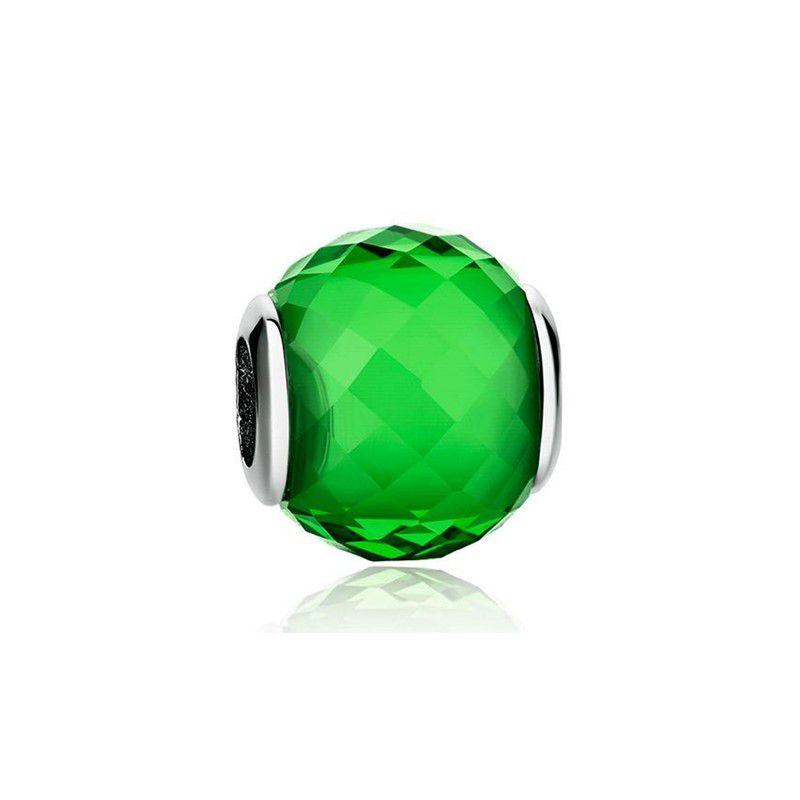 Murano Facetado Verde - Prata Italiana