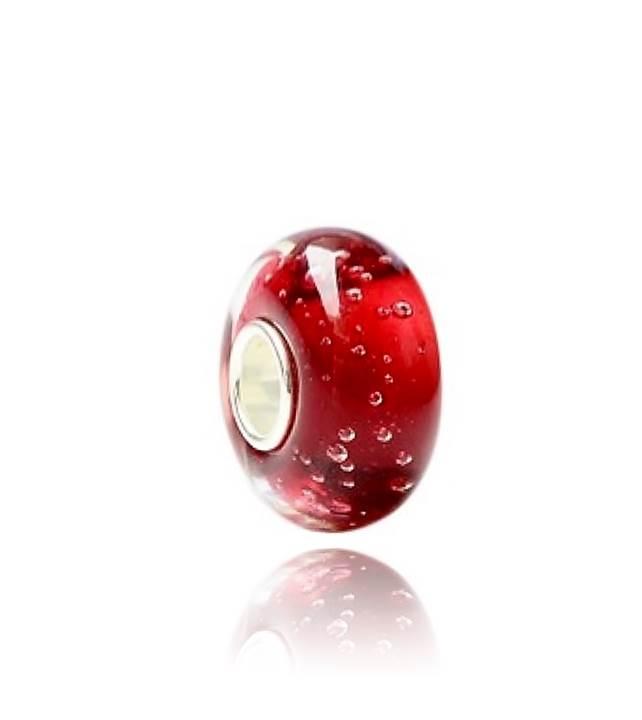 Murano Vermelho Bolhas - LHM0002