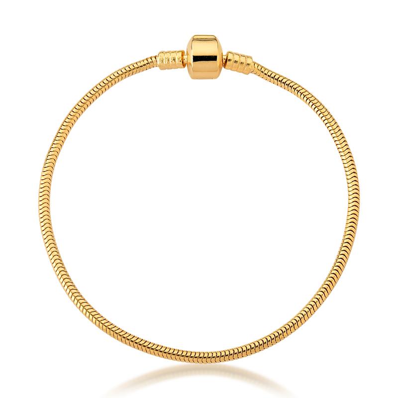 Pulseira de Berloques Prata 925 - Ouro Dourado