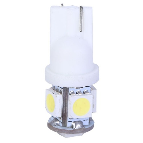 Kit 10 Lampadas Pingo T10 5 Leds Colorida W5w Esmagada