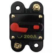 Disjuntor Som Automotivo 200 Amperes Proteção Resetável