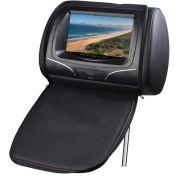 Encosto de Cabeca KX3 com Tela LCD de 7-, entrada USB/SD com Ziper e Funcao Video Game - Preto TK830