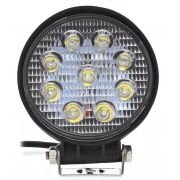 Farol Auxiliar Milha Led Cree 27 watts 9 Leds 12 ou 24v Off Road